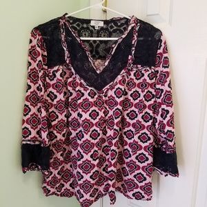 Women's size 2X CROWN & Ivy cury blouse